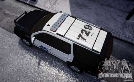 Cadillac Escalade Police V2.0 Final для GTA 4 вид сзади