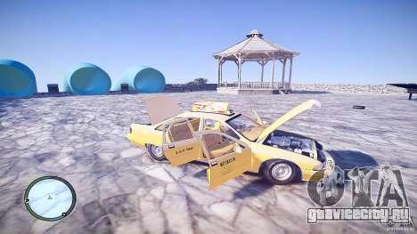 Chevrolet Caprice Taxi для GTA 4 вид сверху