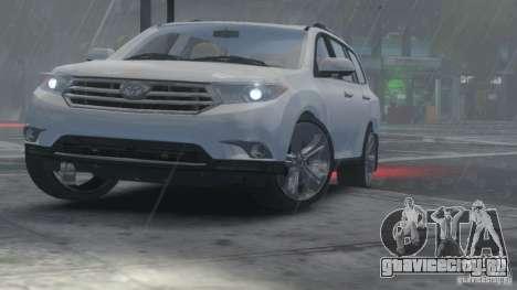 Toyota Highlander 2012 v2.0 для GTA 4 вид сзади