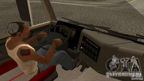 КамАЗ 5460 Евро 3 420 Турбо для GTA San Andreas вид изнутри