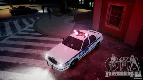 Ford Crown Victoria CVPI-V2.5V для GTA 4 вид сверху