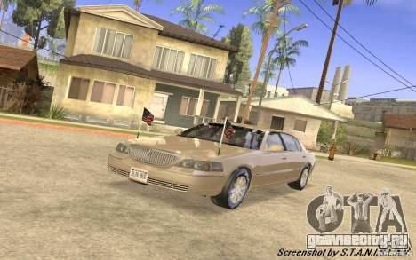 Lincoln Towncar Secret Service для GTA San Andreas