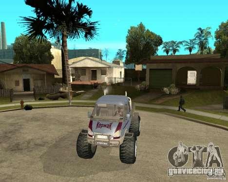 ГАЗ КержаК (Болотоход) для GTA San Andreas вид сзади
