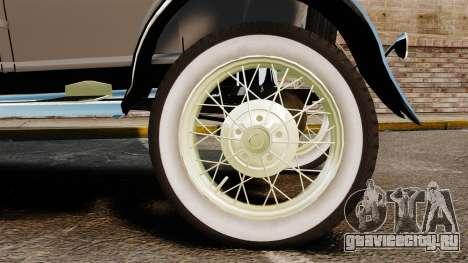 Ford Model T 1927 для GTA 4 вид справа