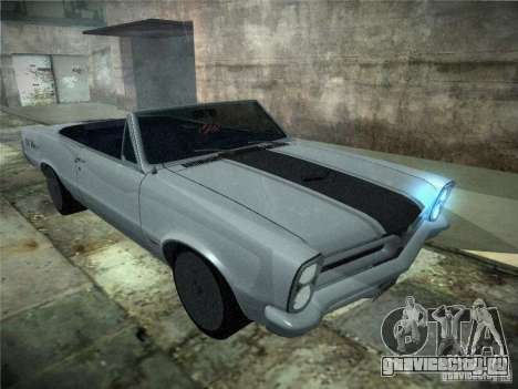 Pontiac GTO 1965 для GTA San Andreas вид сзади слева