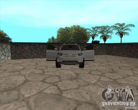 Toyota Highlander для GTA San Andreas вид сверху