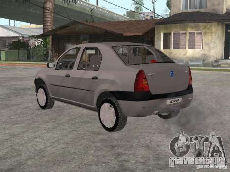 Dacia Logan 1.6 для GTA San Andreas вид справа