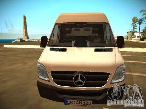 Mercedes Benz Sprinter 311 CDi для GTA San Andreas вид справа