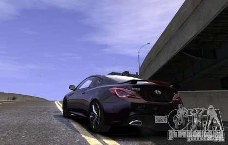 Hyundai Genesis Coupe 2013 для GTA 4 вид слева