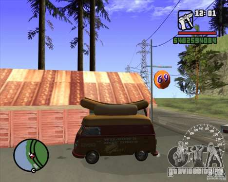 Volkswagen Transporter T1 Hot Dog для GTA San Andreas вид слева