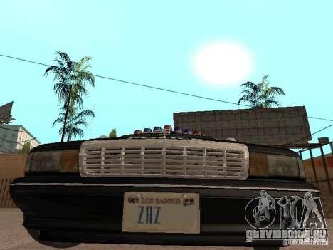 Chevrolet Caprice 1991 LSPD для GTA San Andreas вид сзади