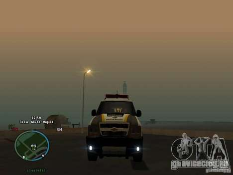 Chevrolet Blazer для GTA San Andreas вид сзади