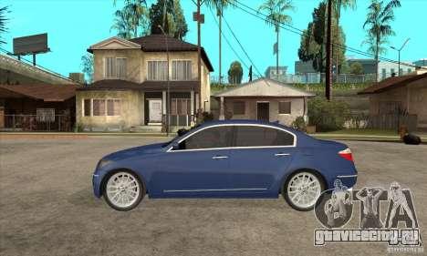 Hyundai Genesis для GTA San Andreas вид сзади
