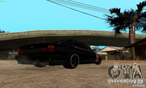 BMW 525 для GTA San Andreas вид сзади слева