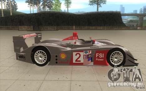 Audi R10 LeMans - Stock для GTA San Andreas вид изнутри