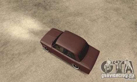 ВАЗ 2106 Street Style для GTA San Andreas вид сзади слева
