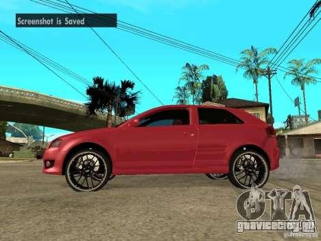 Audi S3 2006 Juiced 2 для GTA San Andreas вид слева