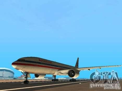 Boeing 777-200 American Airlines для GTA San Andreas