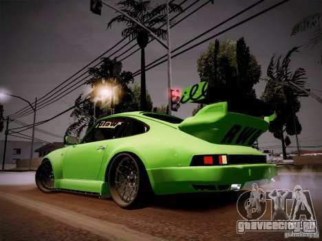 Porsche 911 Turbo RWB Pandora One для GTA San Andreas вид сзади слева