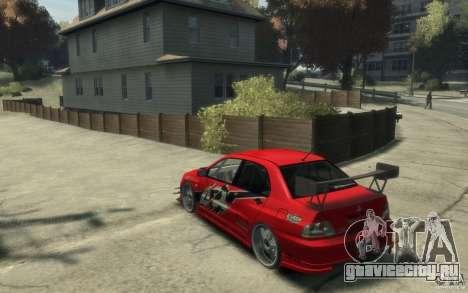 Mitsubishi Lancer для GTA 4 вид сзади слева
