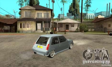 Renault 5 Tuned для GTA San Andreas