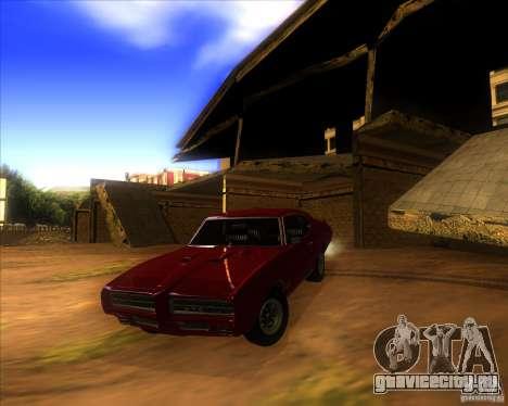Pontiac GTO 1969 для GTA San Andreas вид сверху