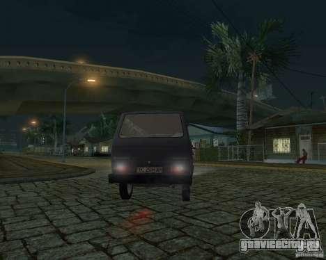 Volkswagen Transporter T3 для GTA San Andreas вид сверху