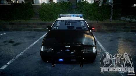 Ford Crown Victoria SFPD K9 Unit [ELS] для GTA 4 вид снизу