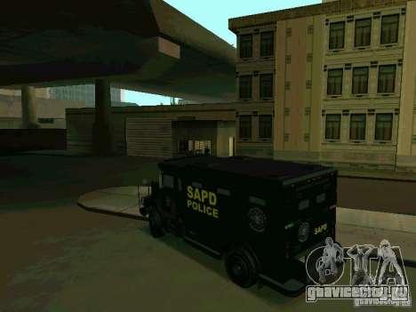 Stokade SAPD SWAT Van для GTA San Andreas вид сзади слева