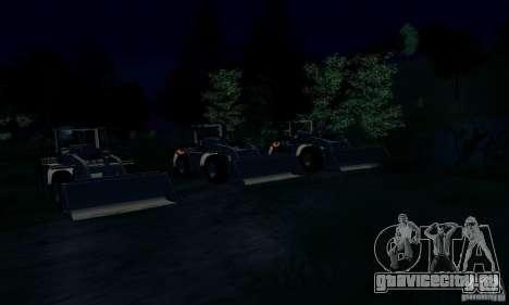 Бульдозер CAT для GTA San Andreas вид справа