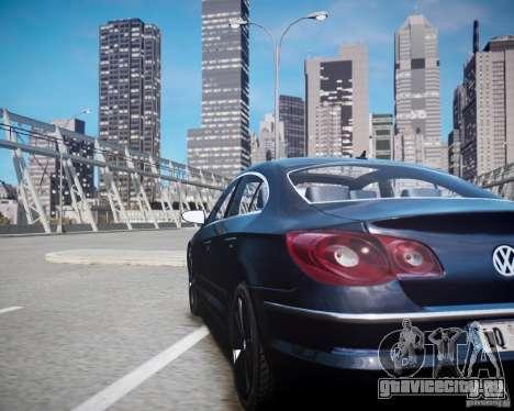 Volkswagen Passat CC для GTA 4 вид изнутри