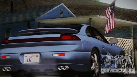 Dodge Stealth RT Twin Turbo 1994 для GTA San Andreas вид сзади
