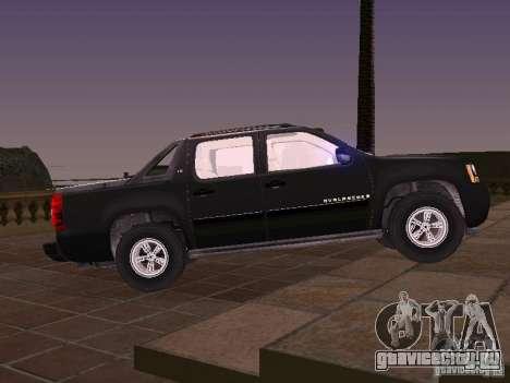 Chevrolet Avalanche для GTA San Andreas вид слева