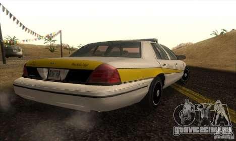 Ford Crown Victoria Illinois Police для GTA San Andreas вид слева
