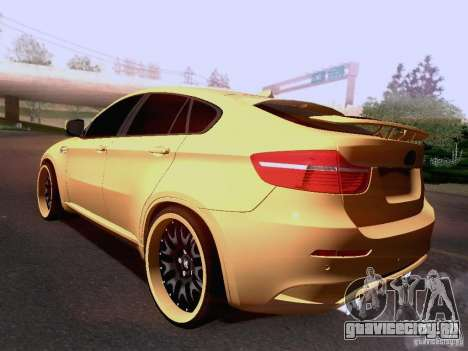 BMW X6M Hamann для GTA San Andreas салон