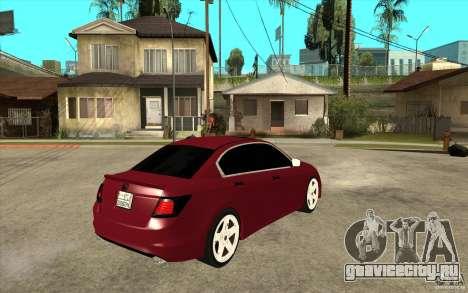 Honda Accord 2008 v2 для GTA San Andreas вид справа