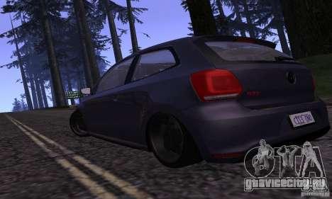Volkswagen Polo GTI Stanced для GTA San Andreas вид сзади слева