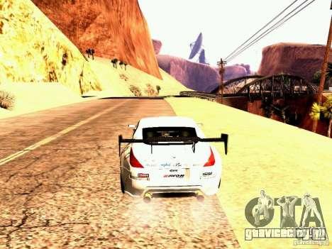 Nissan 350Z Avon Tires для GTA San Andreas вид сзади слева
