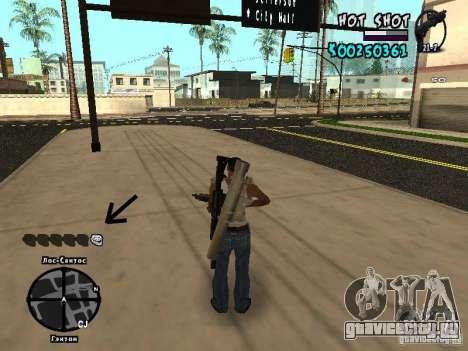 HUD by Hot Shot для GTA San Andreas третий скриншот