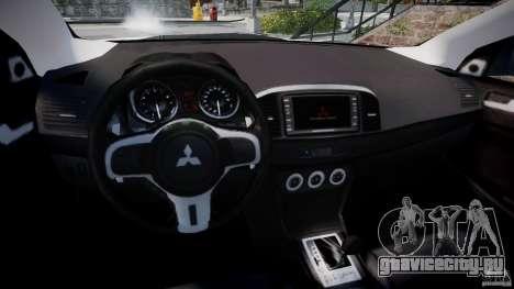 Mitsubishi Lancer Evolution X для GTA 4 вид сзади