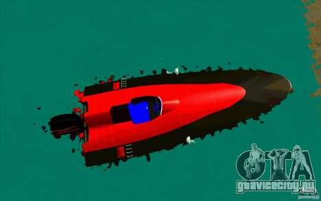 Race Boat для GTA San Andreas вид справа