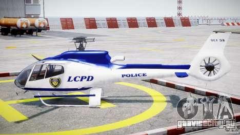 Eurocopter EC 130 LCPD для GTA 4 вид слева