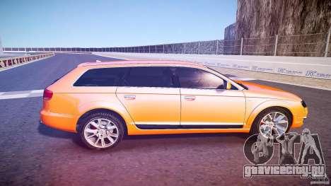 Audi A6 Allroad Quattro 2007 wheel 2 для GTA 4 вид сбоку