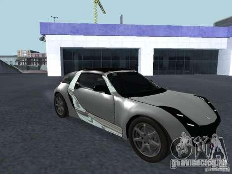 Smart Roadster Coupe для GTA San Andreas вид слева