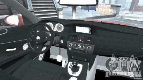 BMW M5 E60 2009 для GTA 4 вид сбоку