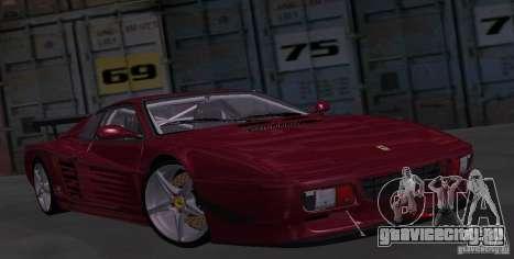 Ferrari 512 TR для GTA San Andreas вид сзади
