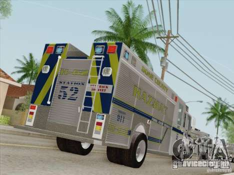 Pierce Fire Rescues. Bone County Hazmat для GTA San Andreas колёса