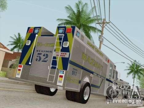 Pierce Fire Rescues. Bone County Hazmat для GTA San Andreas колёса