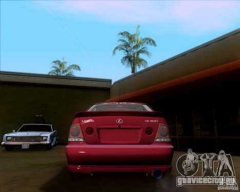 Lexus IS300 Hella Flush для GTA San Andreas вид справа