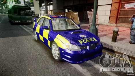 Subaru Impreza WRX Police [ELS] для GTA 4 вид сзади